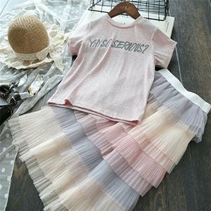 RAINBOW SKIRT AND TOP SET