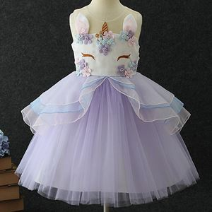 FAIRY PURPLE UNICORN EMBROIDERY GOWN