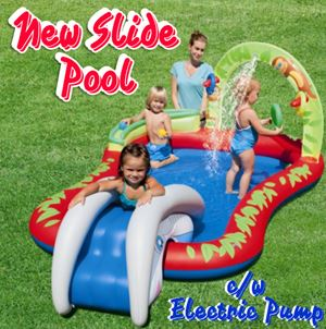 New Slide Pool cw Electric Pump
