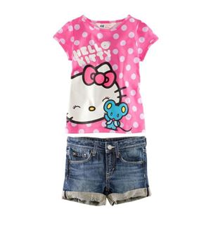 @  G039/13 H & M KITTY GIRL 2 PCS SET