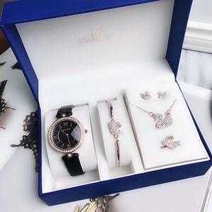 SWR08 A05 Swarovski Elegant Watch Set (Watch + Necklace + Earring + Ring + Bangle)