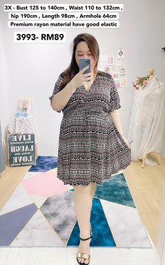 3993 *Ready Stock *Bust 49 to 55 inch /125 to 140cm
