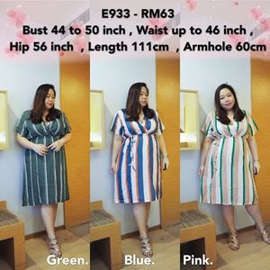 E933 Ready Stock * Bust 44 to 50inch/112-127cm *