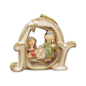 Porcelain Multi-Glazed JOY Ornament