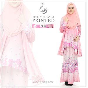 Peplum Eleanor Printed : Pink