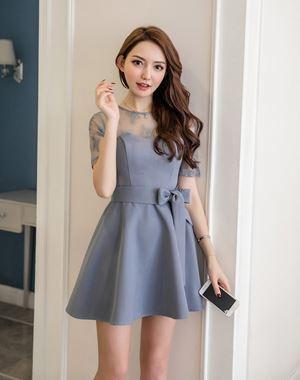Lace Splicing Slim Dress