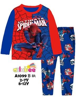 @  AILUBEE SPIDERMAN RED SLEEPWEAR ( A1099-B ) SZ  2Y - 12Y