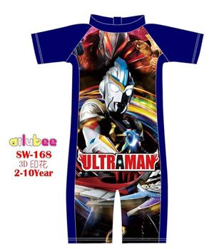 @  SW168 AILUBEE ULTRAMAN BLUE SWIMMING SUIT ( SZ 7-8Y )