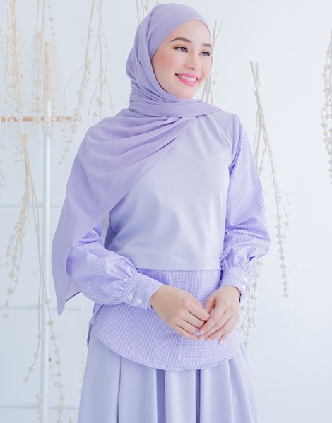 MARISSA TOP IN LILAC