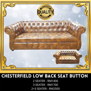 (PQ) SOFA CHESTERFIELD LOWBACK SEAT BUTTON