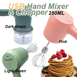 Wireless 3 in 1 usb Hand Mixer Electric Garlic Chopper Automatic Food Processor Portable Hand Blender Mini Meat Grinder