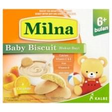Milna Orange Baby Biscuit 6+ Months 130g