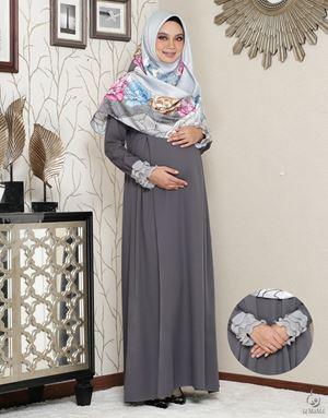 Siti Aafiyah Dress : Dark Grey