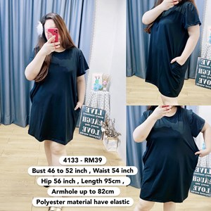 4133 * Ready Stock * Bust 46 to 52inch /117 - 132cm