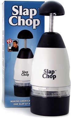 Slap Chop Slicer with Stainless Steel Blades | Vegetable Chopper Gadget | Mini Chopper for Salads | Kitchen Accessory