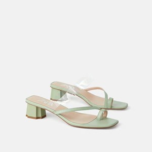 Zara Vinyl Heeled Sandals