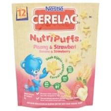 Nestlé Cerelac NutriPuffs Banana & Strawberry Cereal Snacks 50g