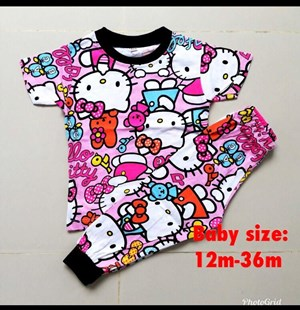 Pyjamas HELLO KITTY PINK RIBBON : BABY 12M- 36M