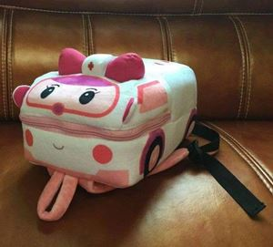 Robocar Poli Plush Backpack - Amber