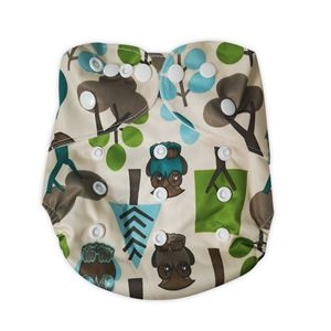 Cloth Diaper - owl+tree