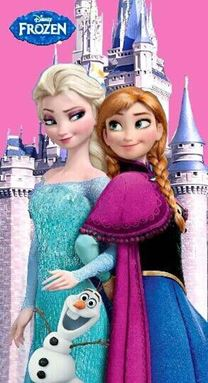 Frozen Towel - Anna, Elsa & Olaf