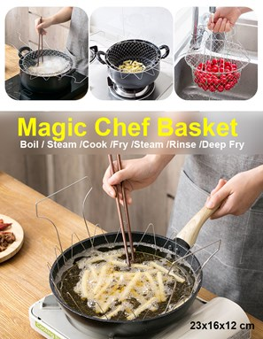 Magic Chef Basket for Boil Steam/ Cook/ Fry /Foods Kitchen Tool /Steam /Rinse/ Deep Fry