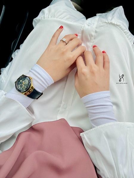 TASNEEM BASIC HANDSOCKS - WHITE