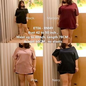 ET06 *Ready Stock *Bust 42 to 50inch/107-127cm