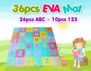 36pcs EVA Mat (26pcs ABC + 10pcs 123)