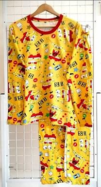 Pyjamas SPONGEBOB SB YELLOW : Size DEWASA 3XL (HF)