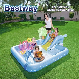 Bestway 53052 Fantastic Aquarium Play Swimming Pool With Air Pump