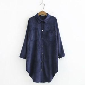 Corduroy Overshirt (Dark Blue)