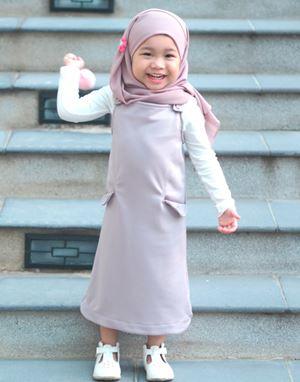 ADELINE OVERALL DRESS IN MAUVE (KIDS)