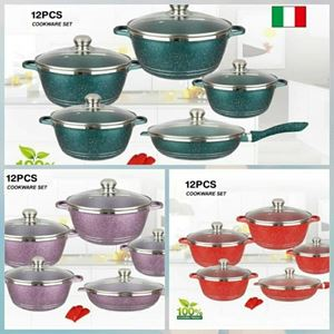 DESSINI 12PC CASSEROLE COOKWARE eta 5/6