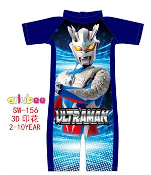 @  SW156 AILUBEE ULTRAMAN BLUE SWIMMING SUIT ( SZ 2-10Y )