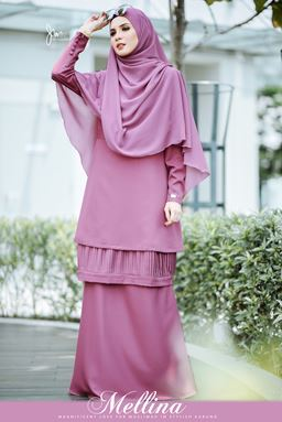 MELLINA STYLISH KURUNG 💕 (Mag Purple)