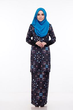 Baju Kurung Melissa (KM104) - Size L,  xl and 2xl sold out, others available