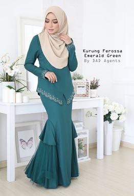 Kurung Ferossa Emerald Green
