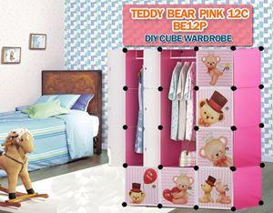 Teddy Bear PINK 12C DIY CUBE WARDROBE (BE12P)