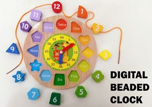 DIGITAL BEADED CLOCK