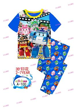 Pyjamas Set - Robocar Poli A-100