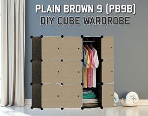 Plain Brown 9C DIY Wardrobe (PB9B)