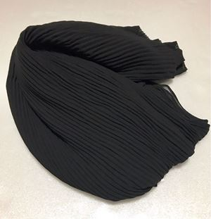 SHAWL CHIFFON SEMI PLEATED BLACK EDITION