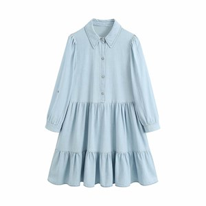 COTTON DENIM TUNIC DRESS