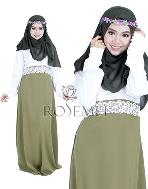 KAISARA DRESS - GRASS GREEN