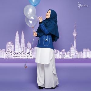 ERONICA MODERNISTIC ~WHITE~ (MEDIUM BLUE)