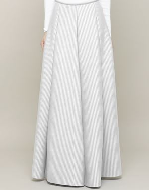 KHLOE STRIPED SKIRTS IN WHITE