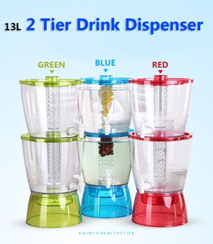 13L 2 Tier Drink dispenser BPA FREE