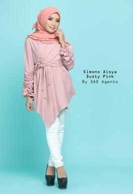 Kimono Wrap Aisya Dusty Pink