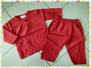 Baju Melayu Baby - Red BM003